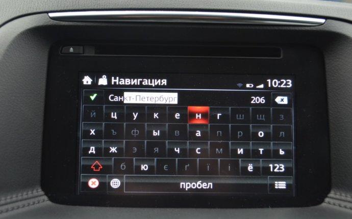 Краткий обзор работы навигации (Mazda CX-5 рестайлинг 2015